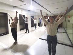 大港油田勘探开发研究院积极推广第九套广播体操